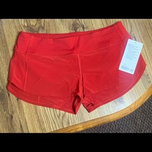 """Speed Up LR Short 2.5"""" *Lined Color: Red Size: 10"""